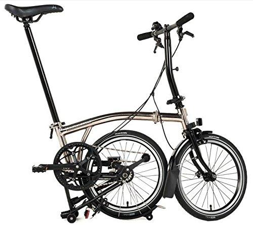 Brompton S6L - Bicicleta plegable de níquel 2017: Amazon.es: Deportes y aire libre