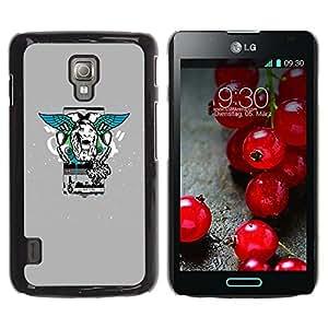 Planetar® ( Lion Wings Street Style ) LG Optimus L7 II P710 / L7X P714 Fundas Cover Cubre Hard Case Cover