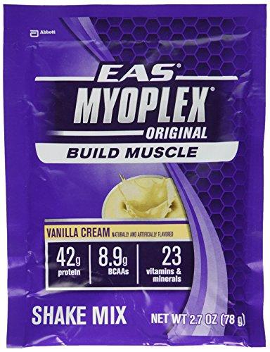 Lean Mass Complex Meal - EAS Myoplex Original Nutrition Shake, Vanilla Cream, Pack of 42