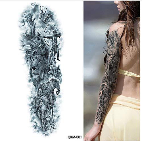 yyyDL Tatuaje temporal de brazo completo para mujer pegatinas de ...