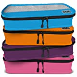 Dot&Dot Slim Packing Cubes for Travel - 4 Piece Luggage Accessories Organizers