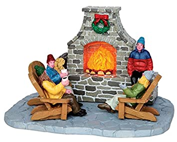 Amazon.com: Lemax Village Collection Outdoor Fireplace Battery ...