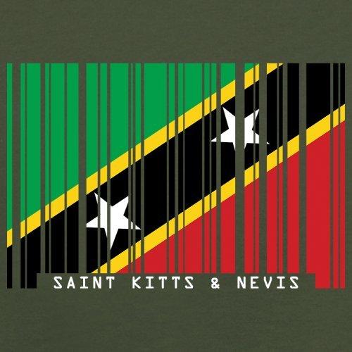 Saint Kitts and Nevis / St. Kitts und Nevis Barcode Flagge - Herren T-Shirt - Olivgrün - XXL