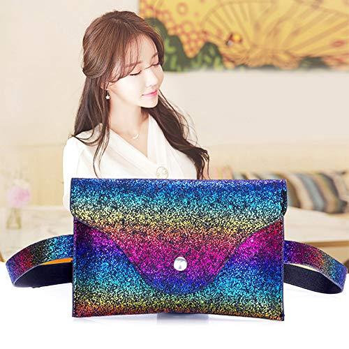 JUNERIAN Pack Colorful PU Bag Belt Party Evening Funny Handbags Waist Women Leather Shoulder 0wqIHxZ04