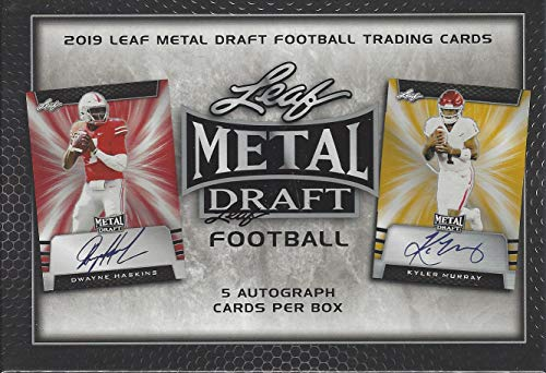 - 2019 Leaf Metal Draft Football box (FIVE Autograph cards)