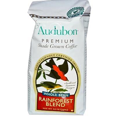 Audubon Premium Coffee, Organic Whole Bean Rainforest Blend, 12 oz (340 g)
