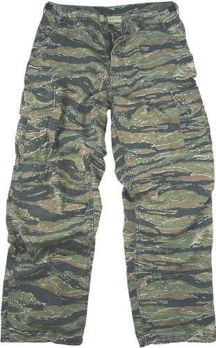 Camouflage Cargo Pants Tiger Stripe Camo Vintage Fatigue Pants(2XL)