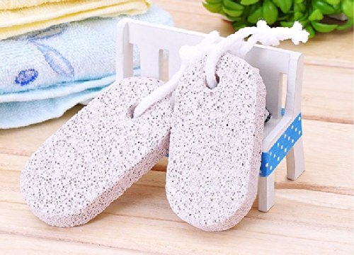 6pcs Foot Care Feet Pedicure Scrubber Natural Pumice Stone Rid Callus Skin Care foot brush Clean scrub remover YingYing Supplies