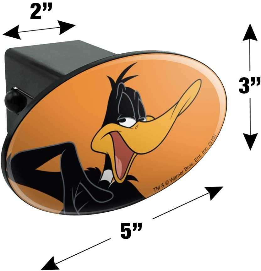 Graphics and More Looney Tunes Daffy Duck Oval Tow Trailer Hitch Cover Plug Insert