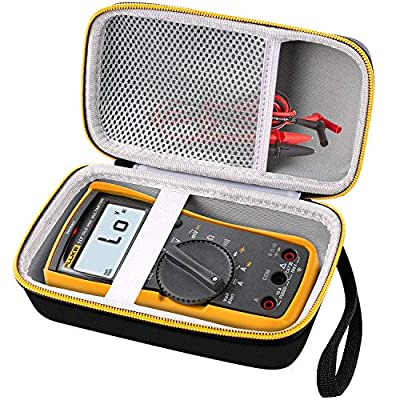 Hard Case for Fluke 117/115/116 Electricians True RMS Digital Multimeter, Protective Carrying Storage Bag with Accessories Mesh Pocket, By COMECASE