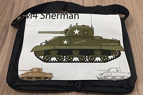 Borsa Tracolla Militare Carro armato Sherman Stampato