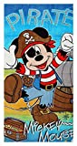Boys Disney Mickey Mouse Goofy Pirate Beach Towel Bath Pool Cotton 140cm x 70cm