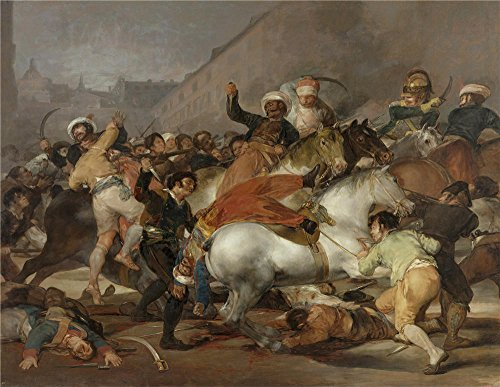 Oil Painting 'Goya Y Lucientes Francisco De The 2nd Of May 1808 In Madrid The Charge Of The Mamelukes 1814' 10 x 13 inch / 25 x 33 cm , on High Definition HD canvas prints, Foyer, Kids Room, N (Brass Madrid Series)