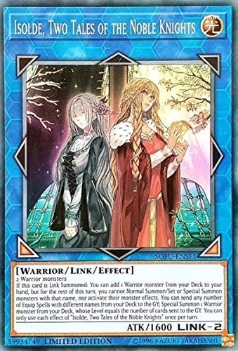 ISOLDE TWO TALES OF THE NOBLE KNIGHTS SUPER RARE LTD ED YuGiOh NEW SOFU-ENSE1