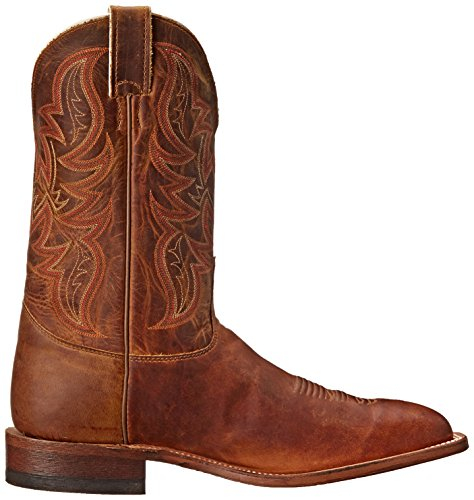 ... Justin Boots Menns 11 Bøyd Skinne Riding Boot Distressed Cognac