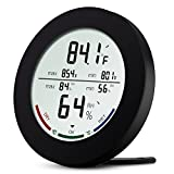 ORIA Digital Hygrometer Thermometer, Temperature and Humidity Monitor with Large LCD Display, Comfort Indicators, MIN/MAX Records, ℃/℉ Switch and Trend of Temperature Change for Home, Office ect-Black
