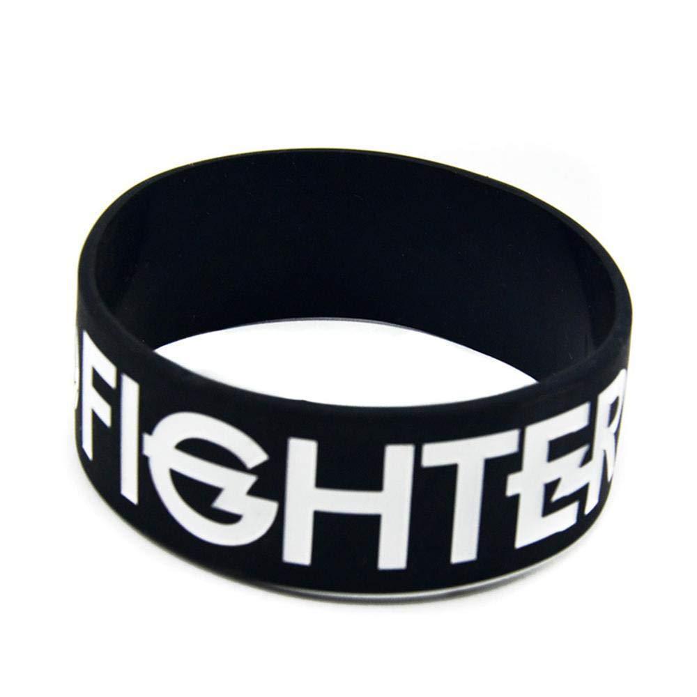 DuDuDu Pulseras de Silicona con Pulseras de Goma Refranes Banda 'Foo Fighters' para los Hombres y los niños la motivación 1 Pulgada Set de Piezas Birthday Gift