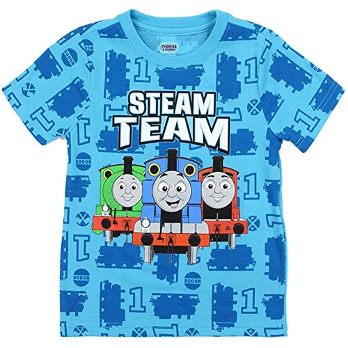 T-shirt Friends Thomas And - Thomas & Friends Little Boys Toddler T Shirt (Blue, 4T)