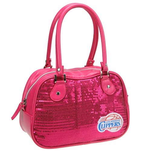 NBA Los Angeles Clippers Repro Handbag, Neon Pink by Concept One Accessories