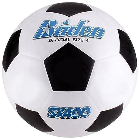 Baden - Balón de fútbol de Goma, Color Negro/Blanco, tamaño Talla ...