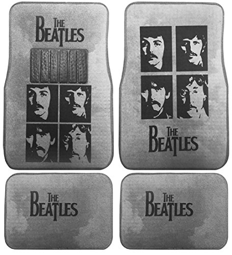 The Beatles Carpet Car SUV Truck Floor Mats 4 Pieces Custom Print Design - Gray (Car Seat Covers The Beatles compare prices)