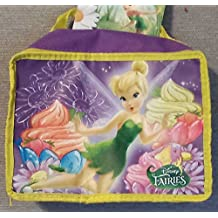 """Disney Fairies Tinkerbell Insulated Lunch Bag. All Little Girls will Adore Having Lunch with Tinkerbell. With all Her Favorite Healthy Fruits, Vegetables Foods and Treats Dimensions 7.5"""" H x 9.25"""" W x 3.5"""" D Easy to Open Zipper Holiday Gifts Girls"""