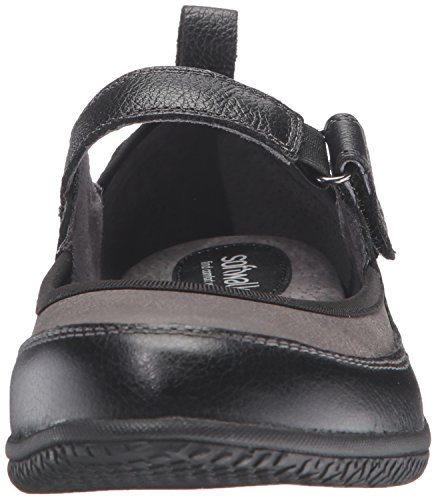 Black Grey étroit Janes Cuir Femmes Softwalk Haddley Mary x8EnqYX0P
