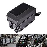 AnTo Automotive Car Fuse Relay Holder 12-Slot Relay Box 6 Relays 6 ATC/ATO Fuses Auto
