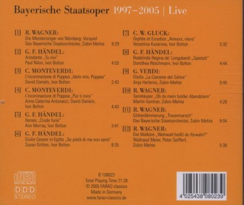 Bavarian State Opera: 1997-2005 Live by Farao Classics