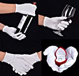 16 Pairs White Cotton Gloves for Coin Jewelry