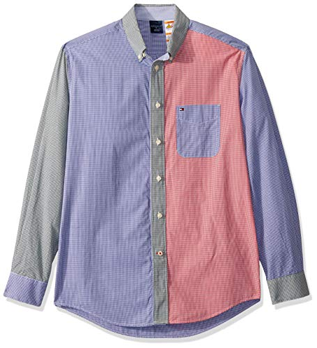 Tommy Hilfiger Mens Adaptive Magnetic Long Sleeve Button Down Shirt Classic Fit