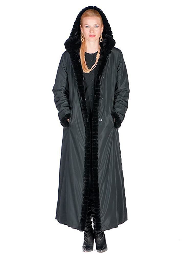 reasonable price release info on new style Madison Avenue Mall Natural Sheared Mink Fur Coat For Women Hooded  Reversible