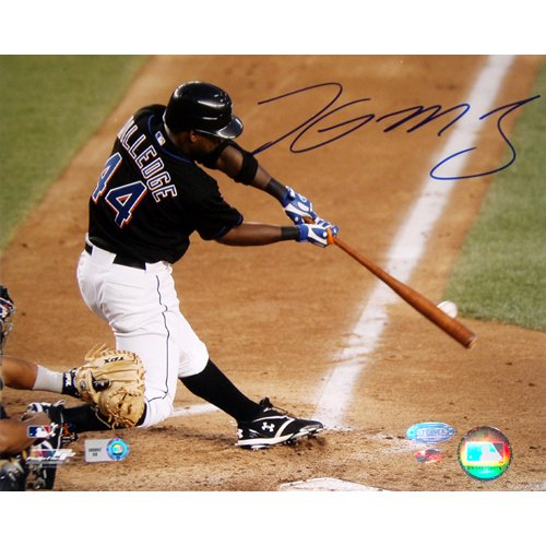 (Steiner Sports MLB New York Mets Lastings Milledge Swing vs Pirates Signed 16 x 20-inch Photo)
