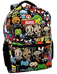 "Kawaii Avengers Boys Girls 16"" School Backpack (One Size, Black/Multi)"