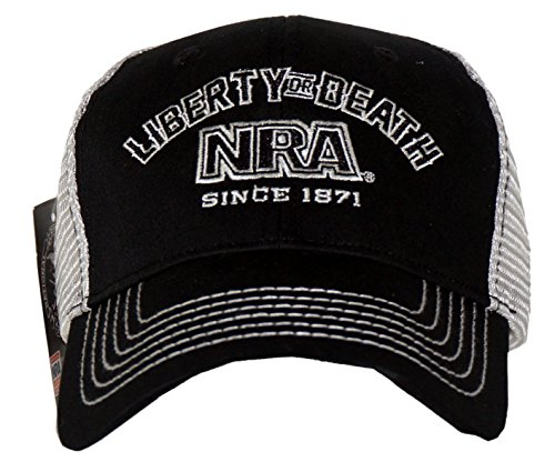 NRA Men's Liberty Or Death Adjustable Trucker Hat Black