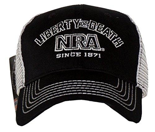 NRA Men's Liberty Or Death Adjustable Trucker Hat Black