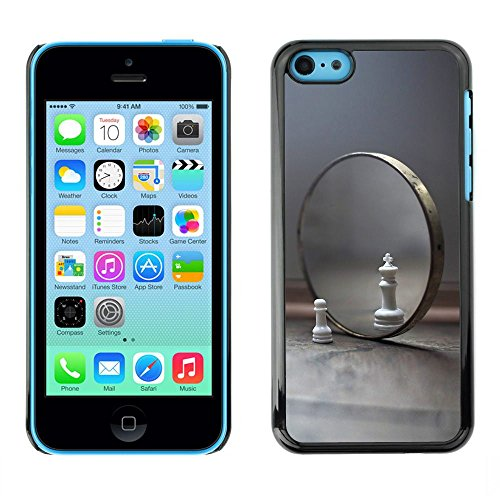 GooooStore/Housse Etui Cas Coque - Mirror Chess Cat Lion Symbol View Yourself - Apple iPhone 5C