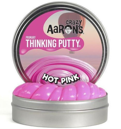 HOT PINK Primary Color Crazy Aaron's Thinking Putty Toy LARGE 4'' Tin 3.2oz