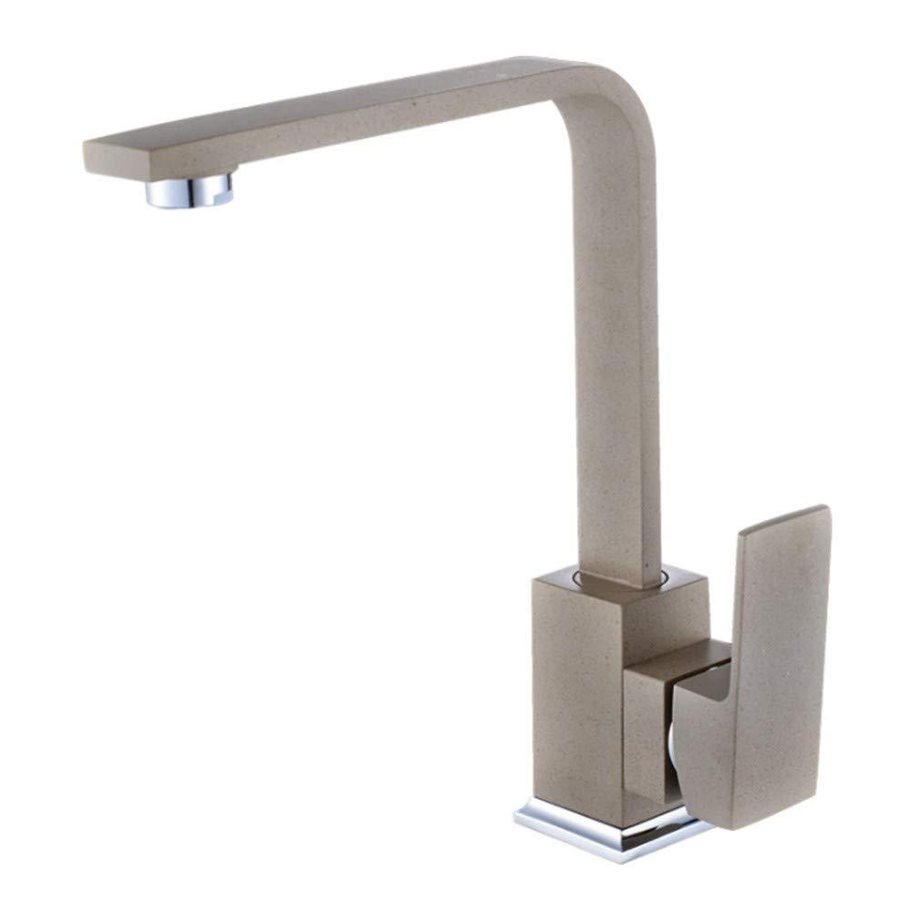 Edelstahl Einhand Wasserhähne Küche Küchenarmatur Aus Waschbecken Mit Kaltem Und Heißem Viereckigemäßlachrohr-Drehhahn