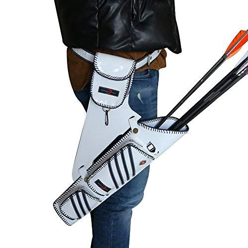 I-sport Archery Quiver Hip Leather Arrow Quiver Holder Waist Hanged Target Quiver for Adult Right Hand