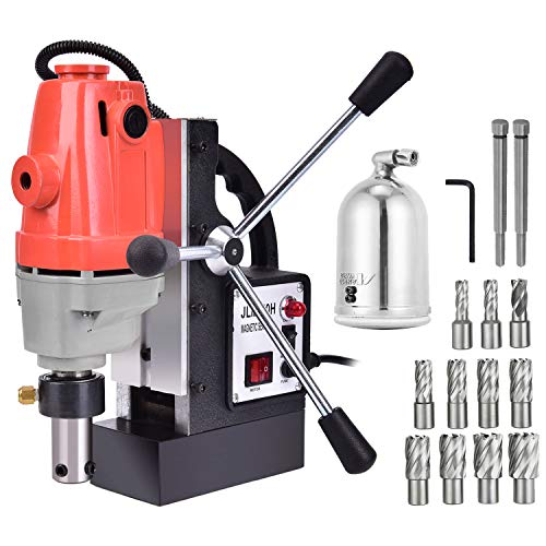 Richo 1100W Magnetic Drill Press with 1.57 Inch (40mm) Boring Diameter MD40 Magnetic Drill Press Machine 2925 LBS Magnetic Force Magnetic Drilling System 700 RPM with 11 Pcs HSS Annular Cutter Kit