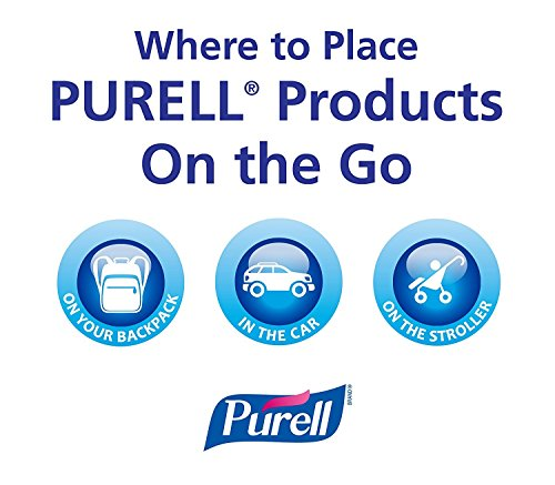 PURELL Advanced Hand Sanitizer Portable Bottles - 1 oz. Travel Sized Jelly Wrap Bottles (Case of 8) (Aloe) by Purell (Image #1)