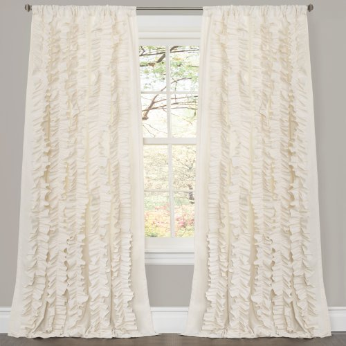 Lush Decor Belle Curtain 84 X 54 Inches Ivory