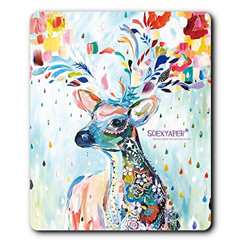 (Soexyaper Deer Series Rubber Mouse Pads are Non-Skid and Waterproof (7 Colour elk))