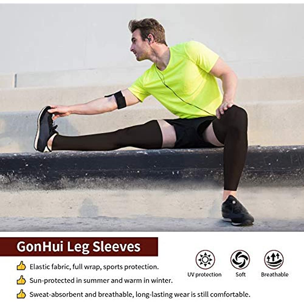 1 Pair Cooling Leg Sleeves Cover UV Sun Protection Outdoor Sports For Men Women