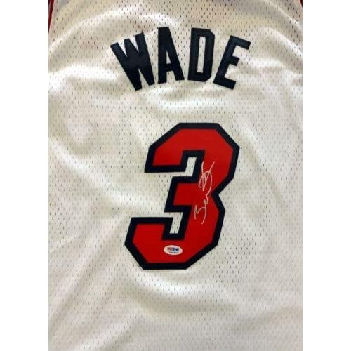 Signed Dwyane Wade Jersey - White Adidas - PSA DNA Certified - Autographed NBA  Jerseys a597784d9