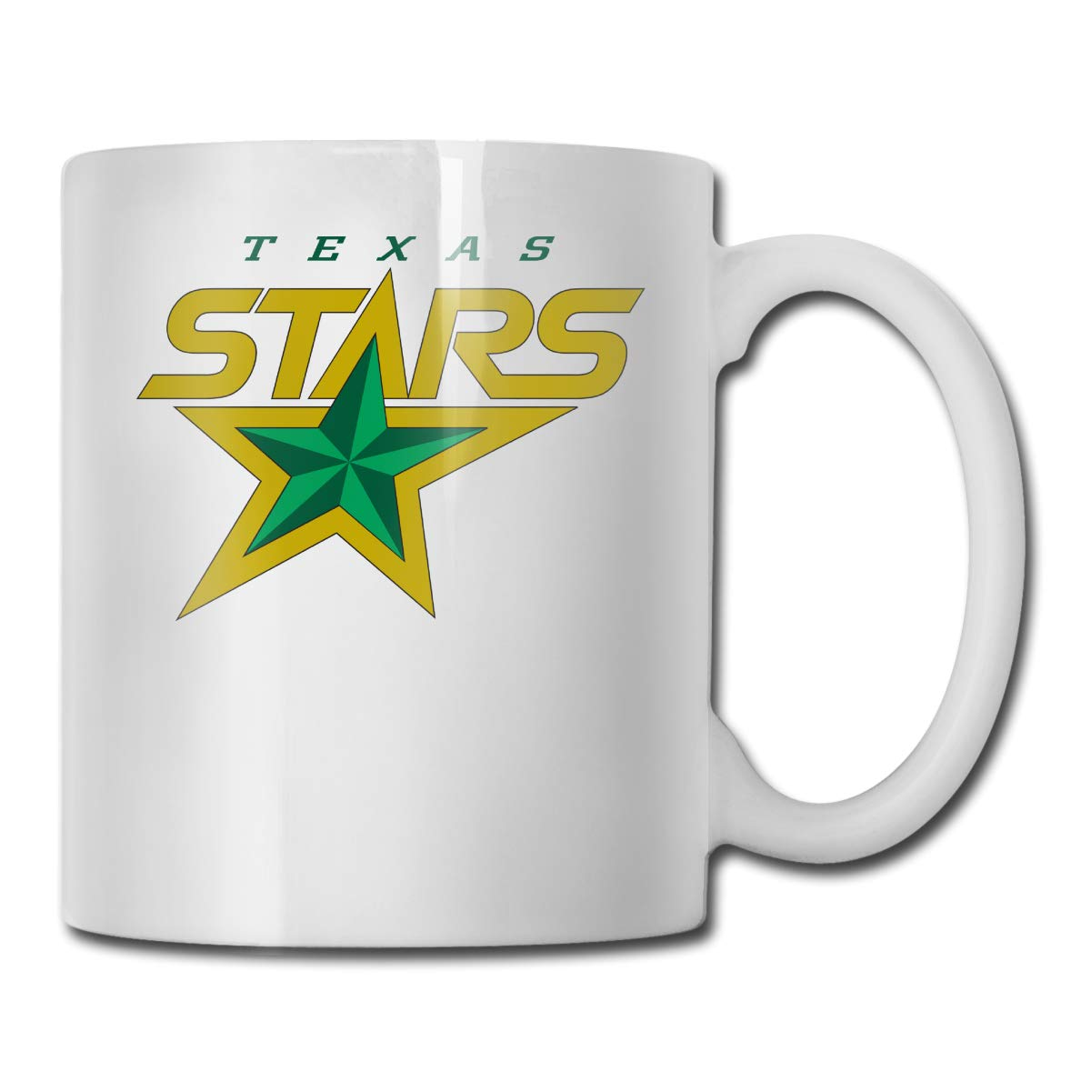 White One Size Office Coffee Cup HockeyLogoTexasStars Geblackus 14.72 OZ Capacity Mug is Perfect for CoffeeWhite
