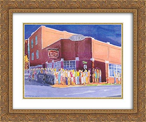 Tn Framed Nashville (Pancake Paradise, Nashville, TN 2X Matted 18x15 Gold Ornate Framed Art Print by J. Presley)