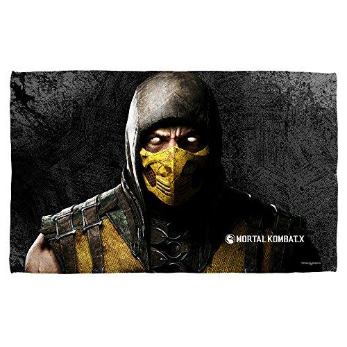 Mortal Kombat X Fighting Video Game Scorpion Beach Towel