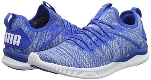 Evoknit Hommes Flash Ignite Bleu Cross Strong Baskets Puma Blanc puma w1qt6pp